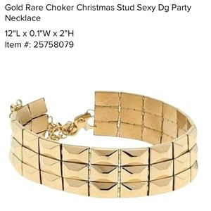 🎉AUTH DG quilt choker necklace Italy sexy stud